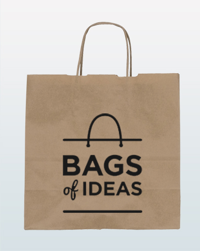 Kraft Paper Bag - Twist Handle (S)