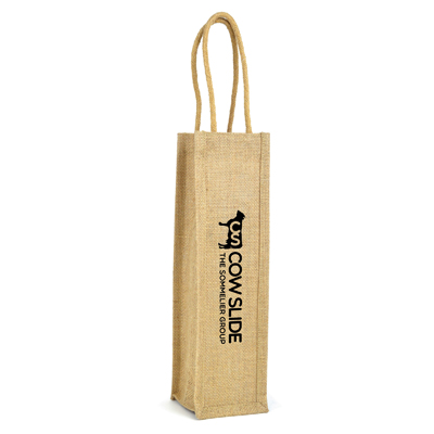 Jute Single Wine Bag