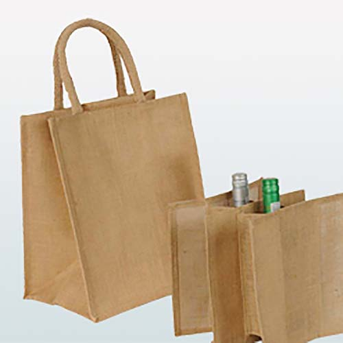 Jute Bottle Shopper Bag