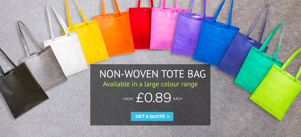Cheap non-woven tote shopping bags – quick lead time and large colour choice.