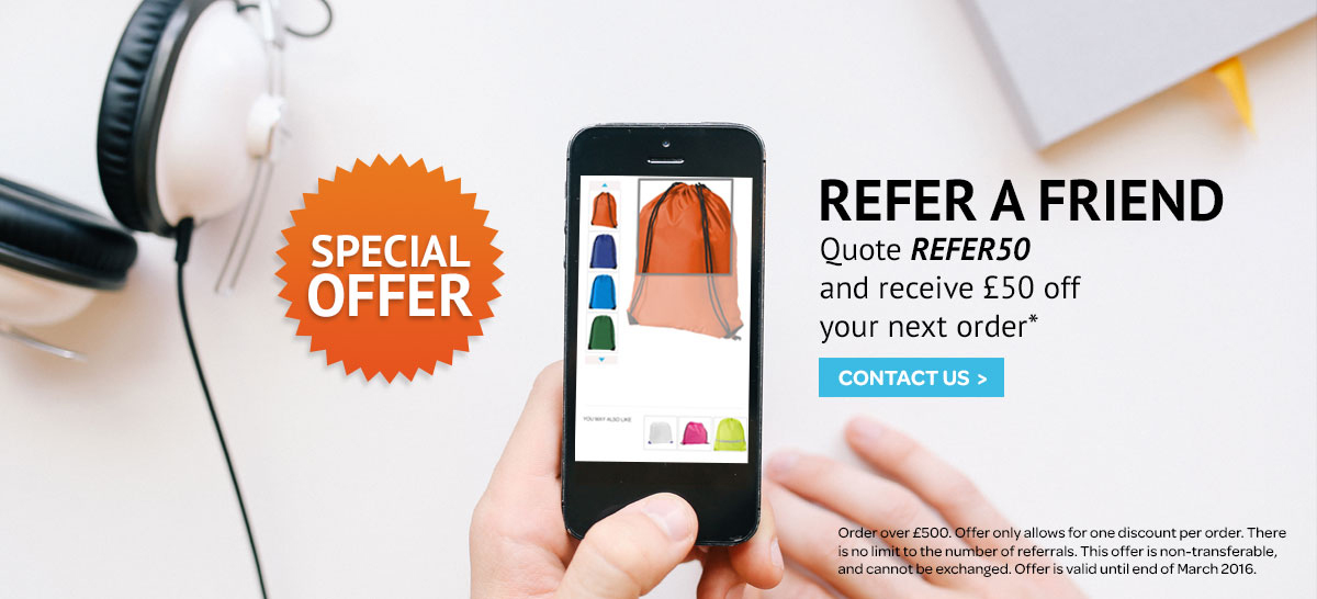 Refer a friend and receive £50 off your next order